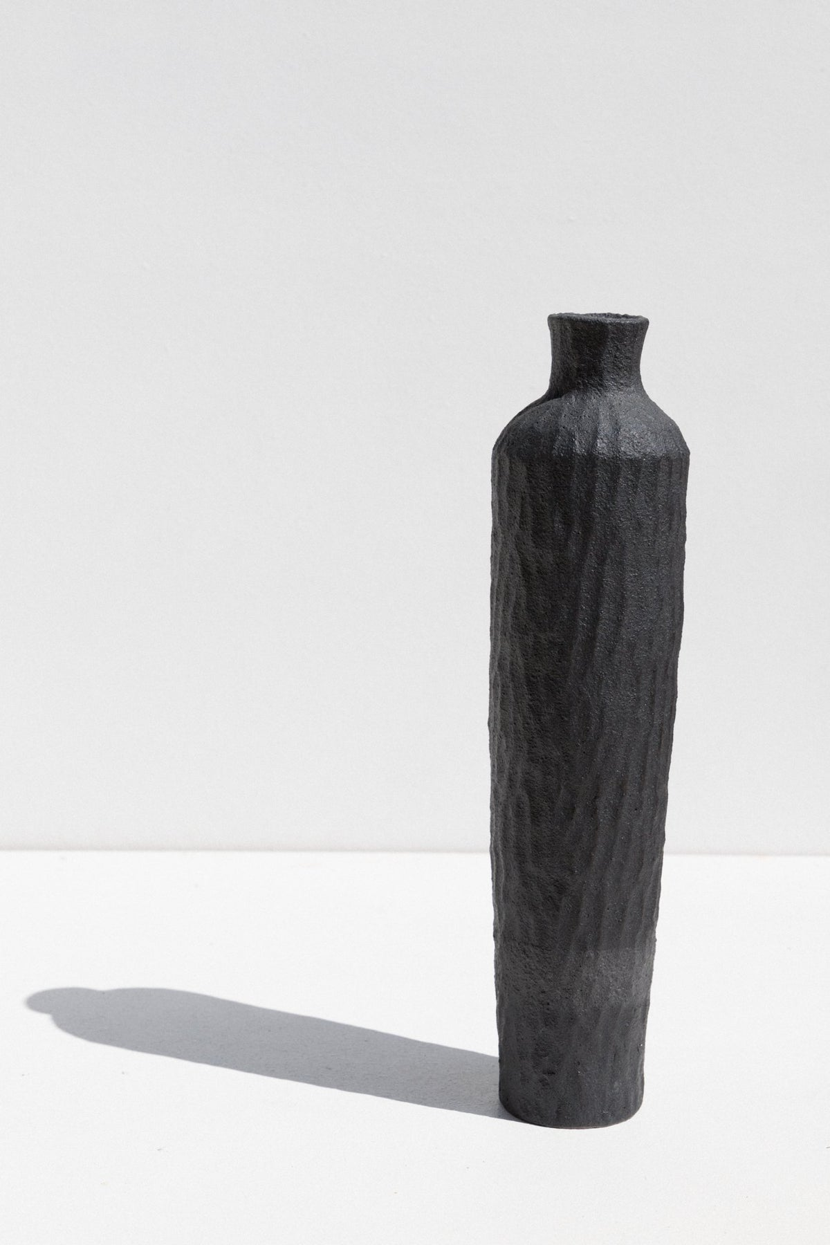 Kerryn Levy Charcoal stoneware Naked Clay Vase in Size Large