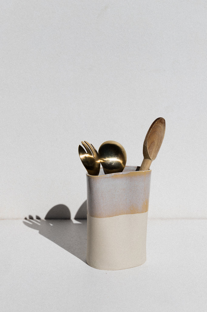 Kura Studio ceramic utensil holder on Maker's Mrkt makers market Melbourne
