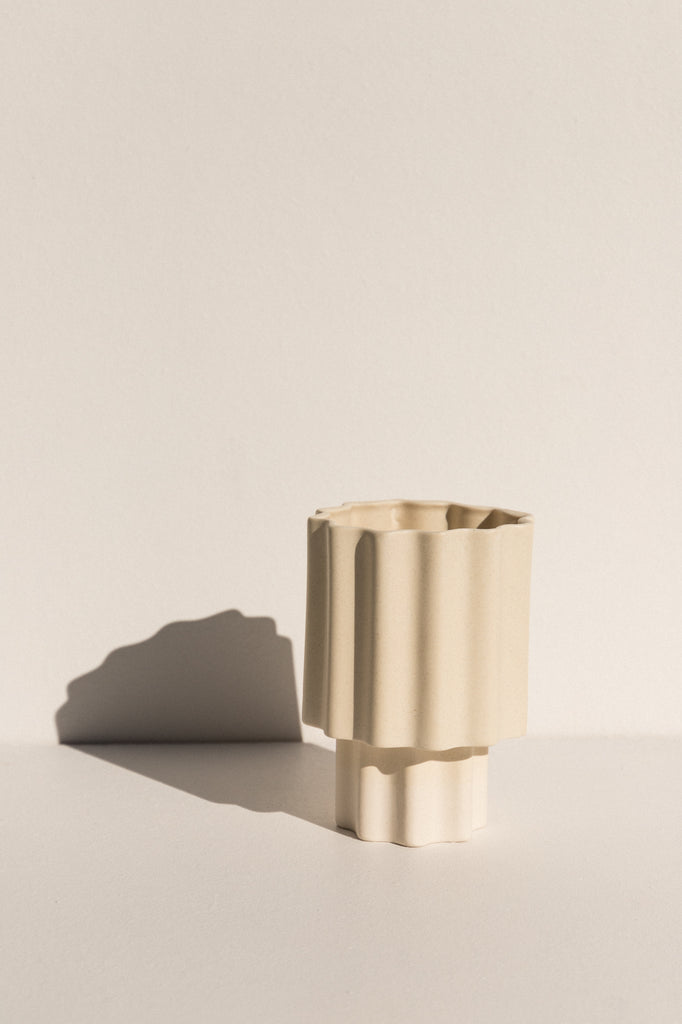 Tapered Vase - Limestone