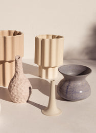 Ella Reweti Tapered Vase in Chalk colour colour on Makers' Mrkt Makers Market Melbourne