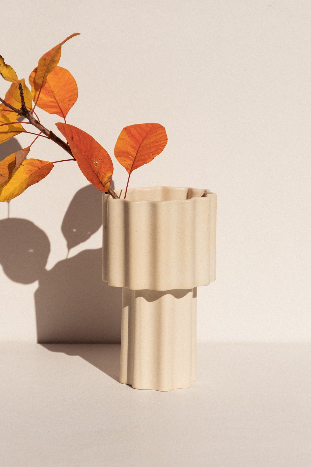 Ella Reweti Tall Tapered Vase in chalk colour colour on Makers' Mrkt Makers Market Melbourne