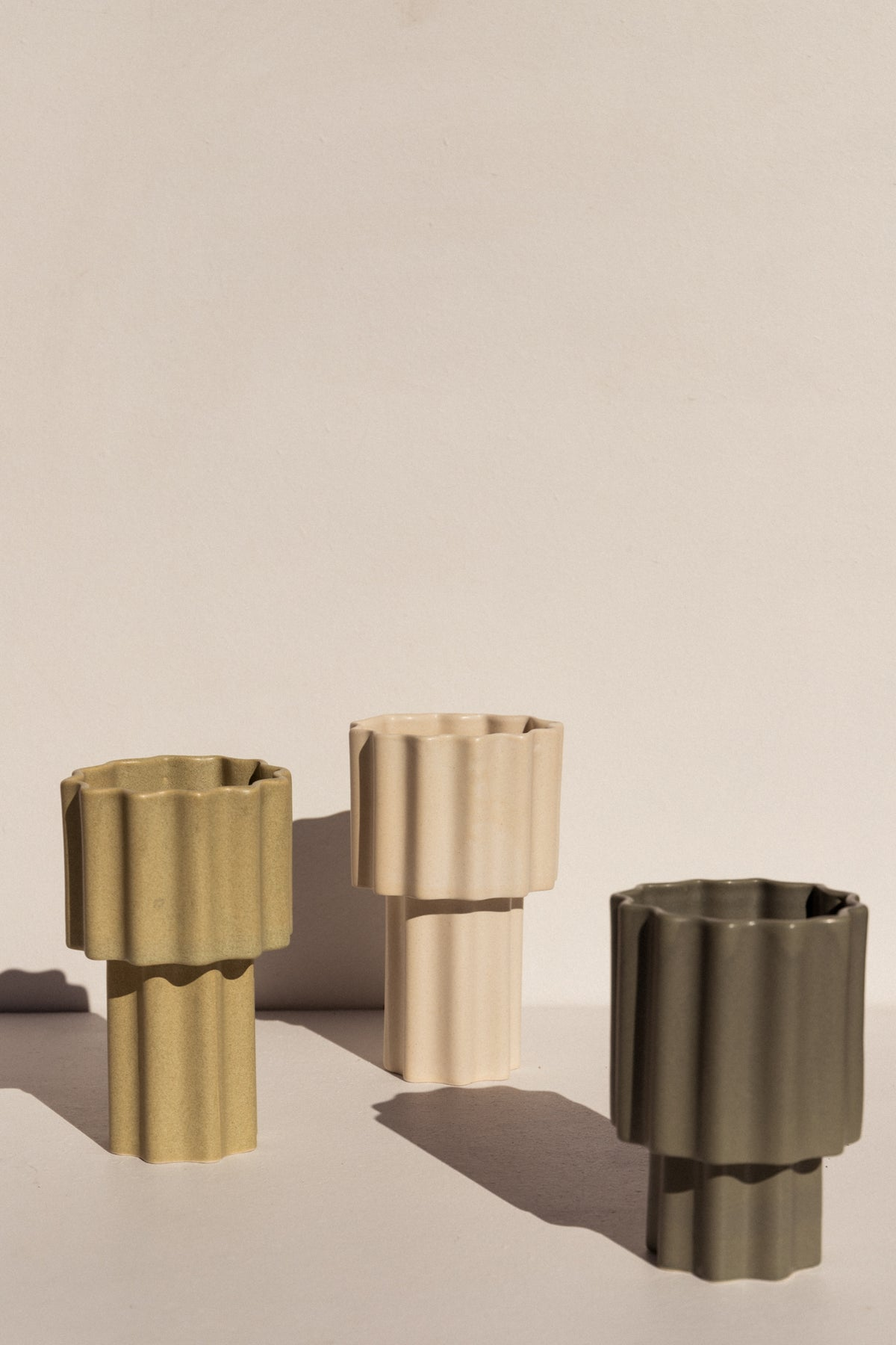 Ella Reweti Tapered Vase in green colour colour on Makers' Mrkt Makers Market Melbourne