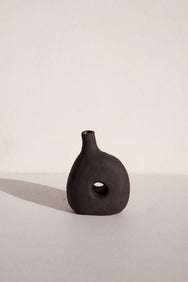 ceramicist Deborah Sweeney handbuilt ceramic vase on Makers' Mrkt Makers market Melbourne