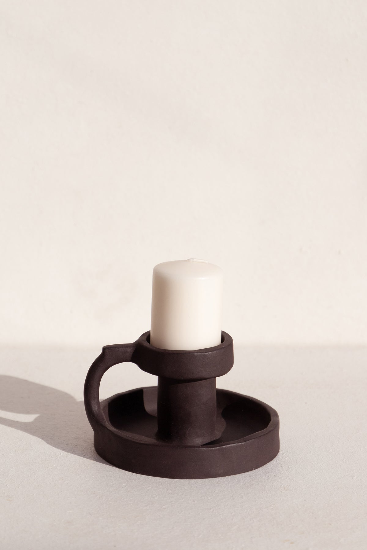 Clae Studio black Onyx ceramic candle holder on Makers' mrkt makers market Melbourne