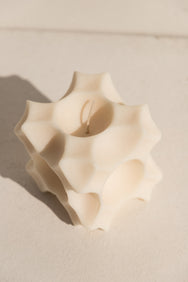 Andrej Urem architectural soy candle in white on Makers Mrkt makers market Melbourne