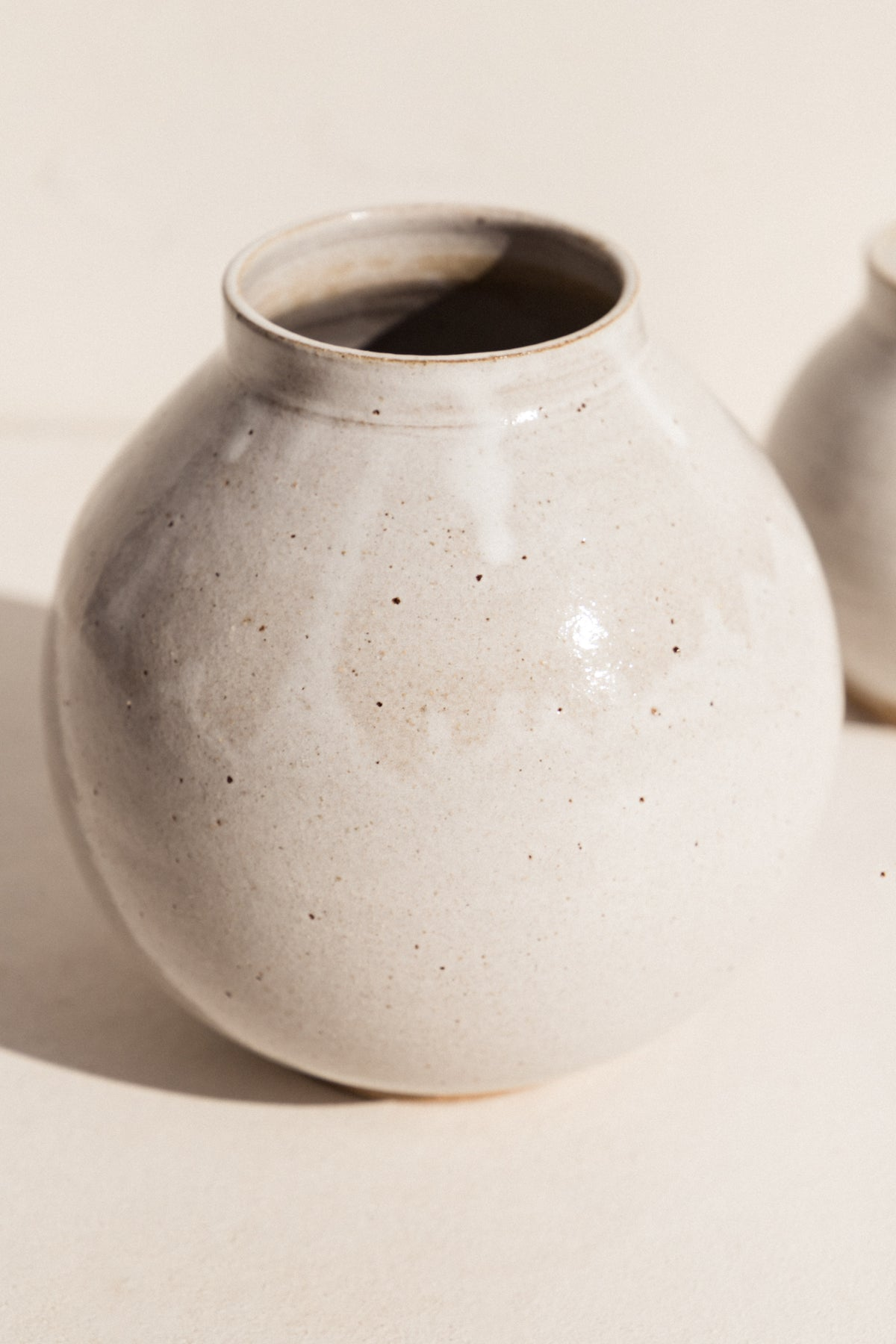 asobimasu clay ceramic Moon vase in Ivory on makers market Makers Mrkt Melbourne