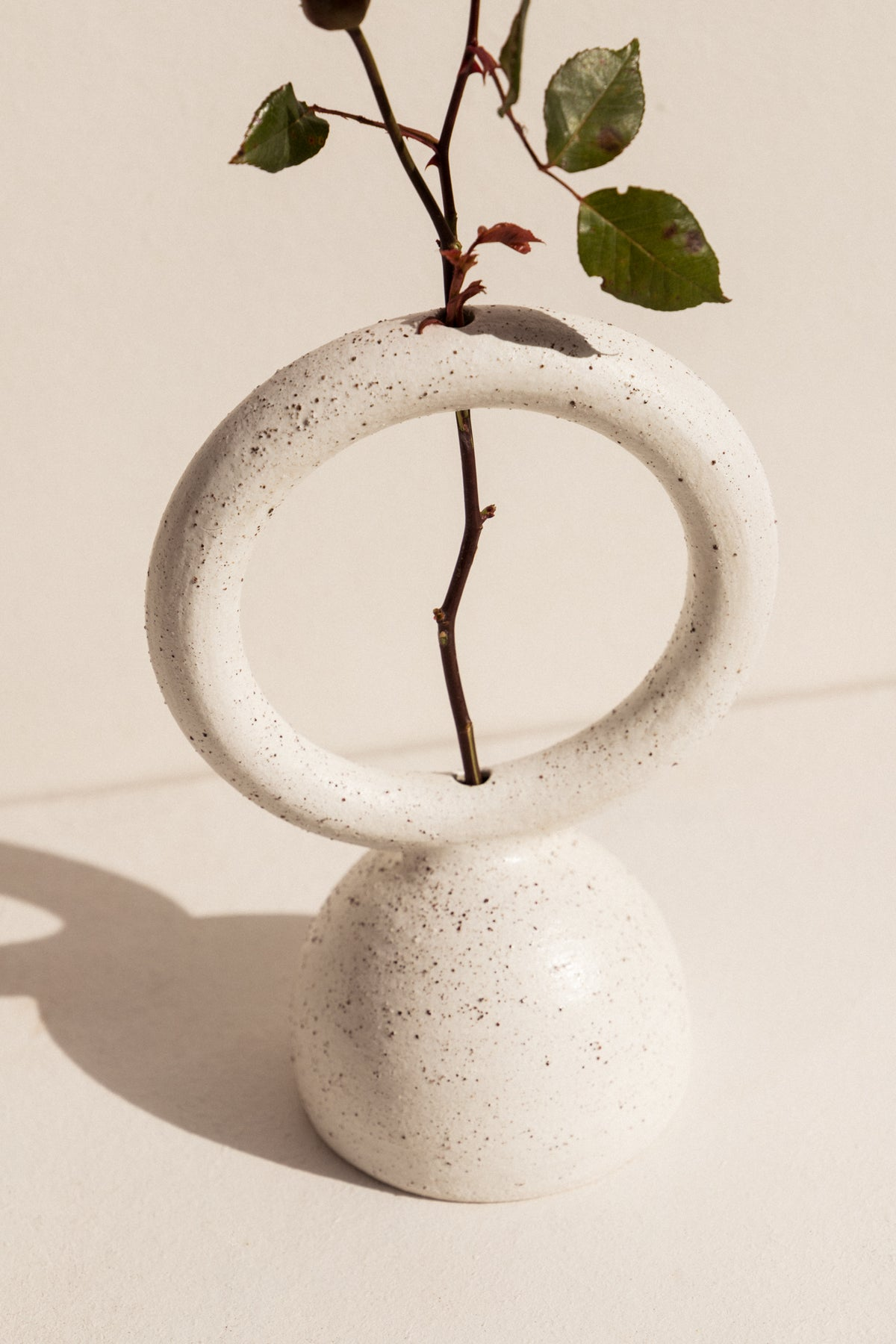 Eun Ceramics white Femme #5 ceramic vase on Makers' Mrkt makers market Melbourne. Handmade shop small