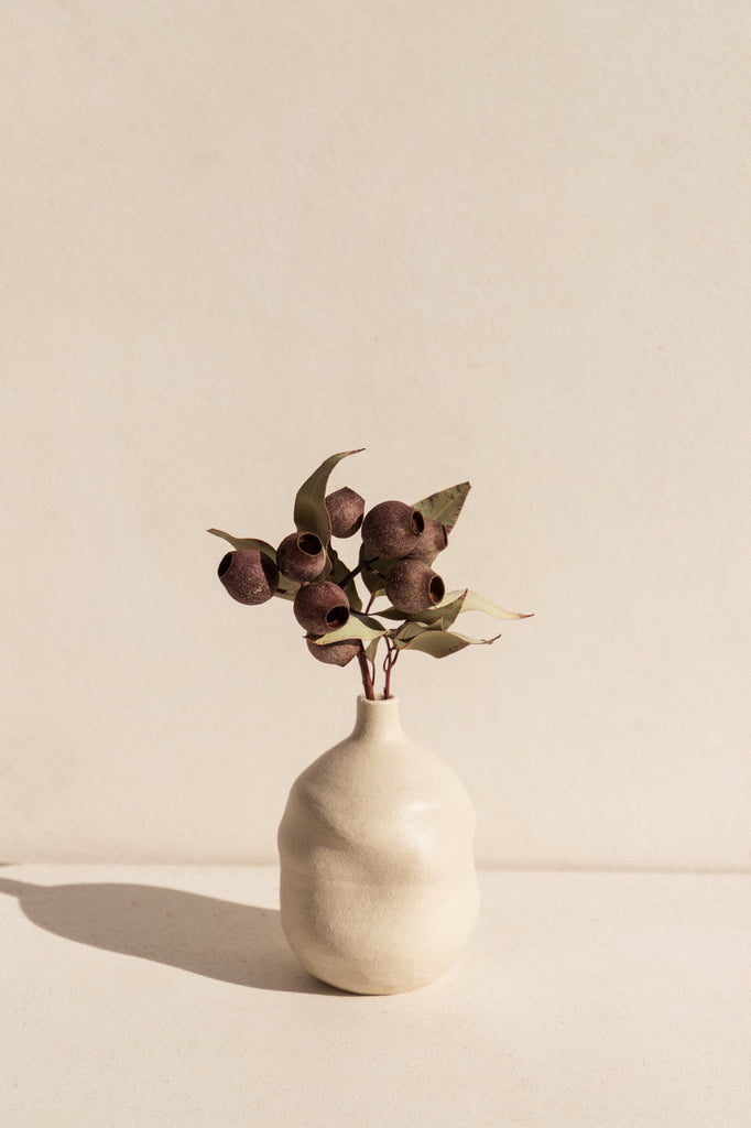 Eun Ceramics white ceramic vase on Makers' Mrkt makers market Melbourne. Handmade shop small