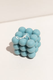 Evie Mine blue large Cloud candle. Soy and beeswax candle on Makers' Mrkt , Makers market Melbourne