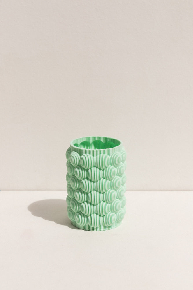 UAU Project mint S Vase 3D printed PLA candle holder on Makers' Mrkt , makers market Melbourne