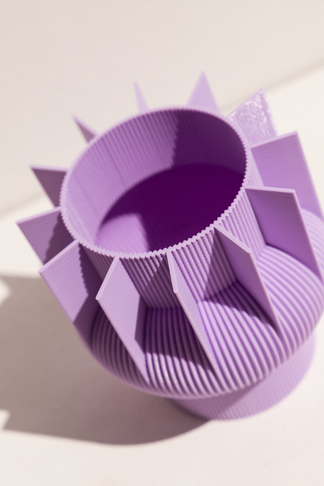 UAU Project lilac S Vase 3D printed PLA candle holder on Makers' Mrkt , makers market Melbourne
