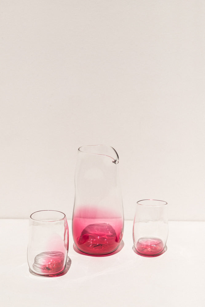 Lope Home rose glass Pitcher handmade in Melbourne on Makers' Mrkt, Makers market Melbourne