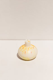 Yellow speckle Blazed Wax Splatter bomb candle on Makers' Mrkt, Makers Market Melbourne
