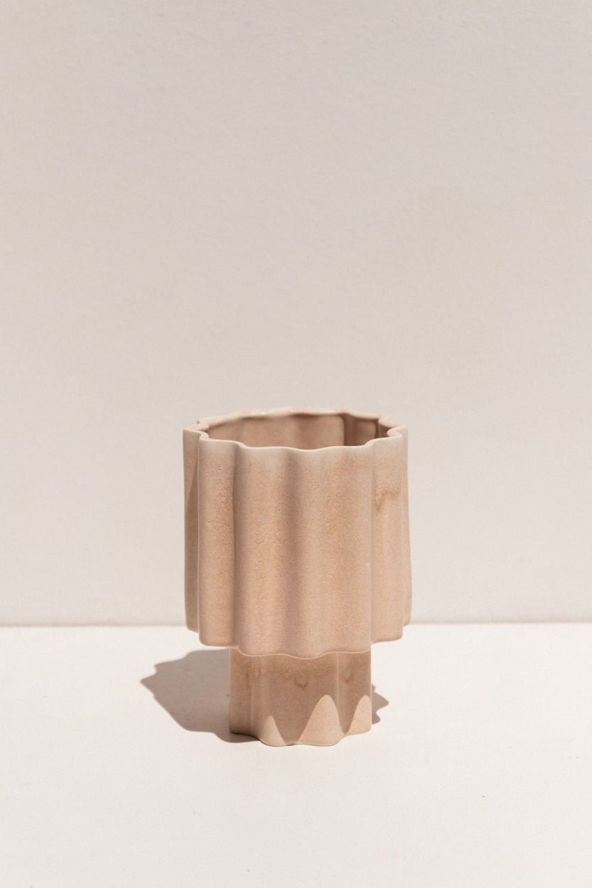 Ella Reweti Tapered Vase in buff colour colour on Makers' Mrkt Makers Market Melbourne