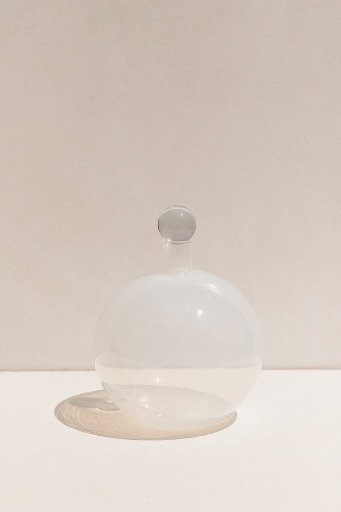 Drew Spangenberg White Glass Ensemble Bottle on Makers' Mrkt , Makers' Mrkt Melbourne, Collectable glassware