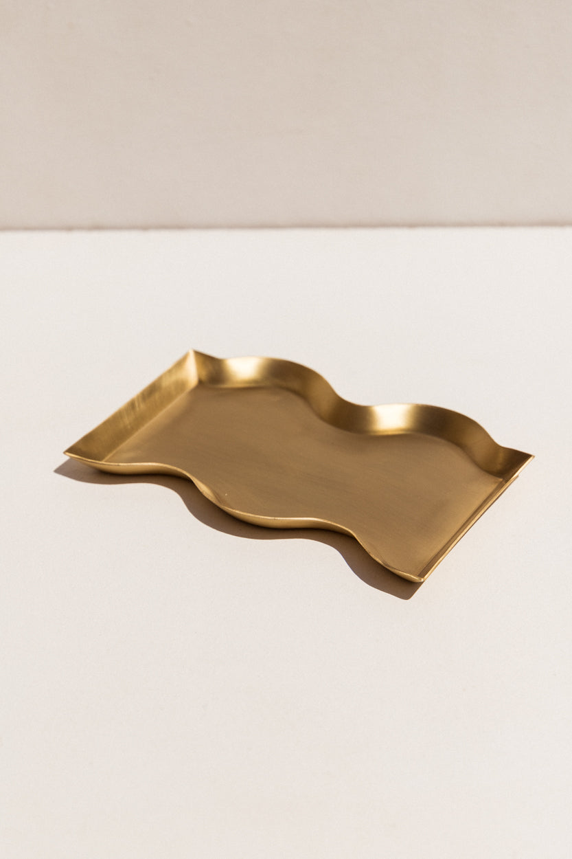 black blaze brass wavy candle tray on Makers' Mrkt Makers Market Melbourne