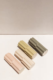 Ella Reweti Tilde Stacked ceramic vase in Chalk on Makers' Mrkt