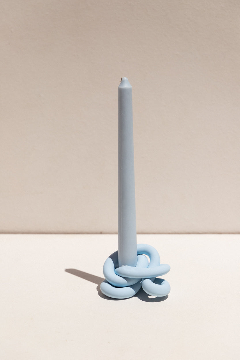 Arowm polymer clay knot sculptural candle holder ceramic on Makers' Mrkt Makers Market Melbourne
