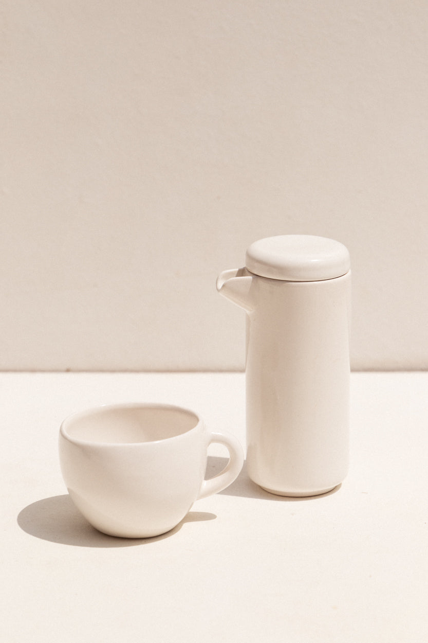 Gidon Bing Satin white medium sized ceramic mug on Makers' Mrkt Makers Market Melbourne Guft ideas