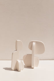 Gidon Bing white ceramic Maquette2 on Makers' Mrkt , Makers Market Melbourne