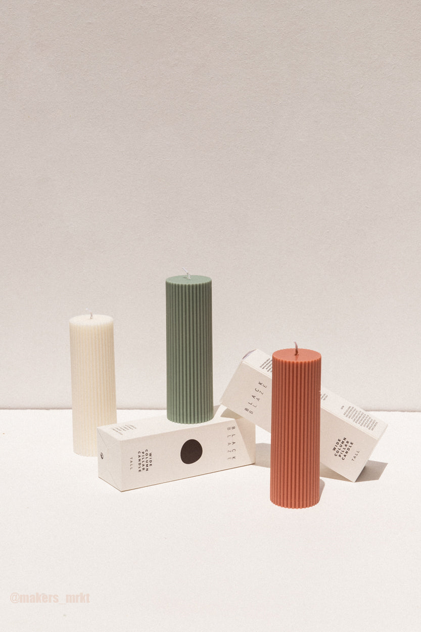 Chubby Pillar Candle - White