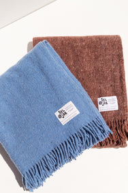 sejjak Earth coloured wool blanket made from recycled wool on Makers' Mrkt Melbourne