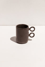 Abs Objects black ceramic scissor mug on Makers' Mrkt Makers Market Melbourne