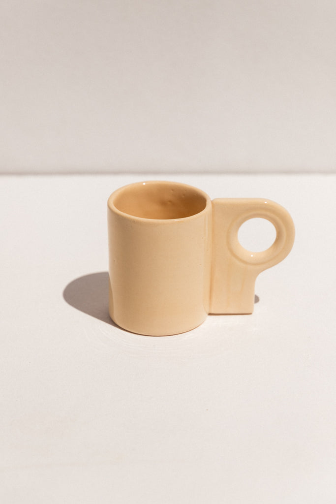 Abs Objects butter coloured L70 mug  mug on Makers' Mrkt Makers Market Melbourne