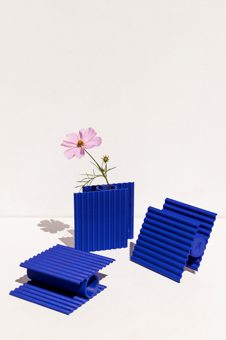 Miio Vase by Valentine Lebigot in Klein Blue on makers' Mrkt Makers market Melbourne