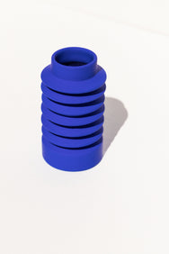 Severj Studio Kelin Blue ceramic Zig Zag vase on Makers' Mrkt, Makers' Mrkt Melbourne