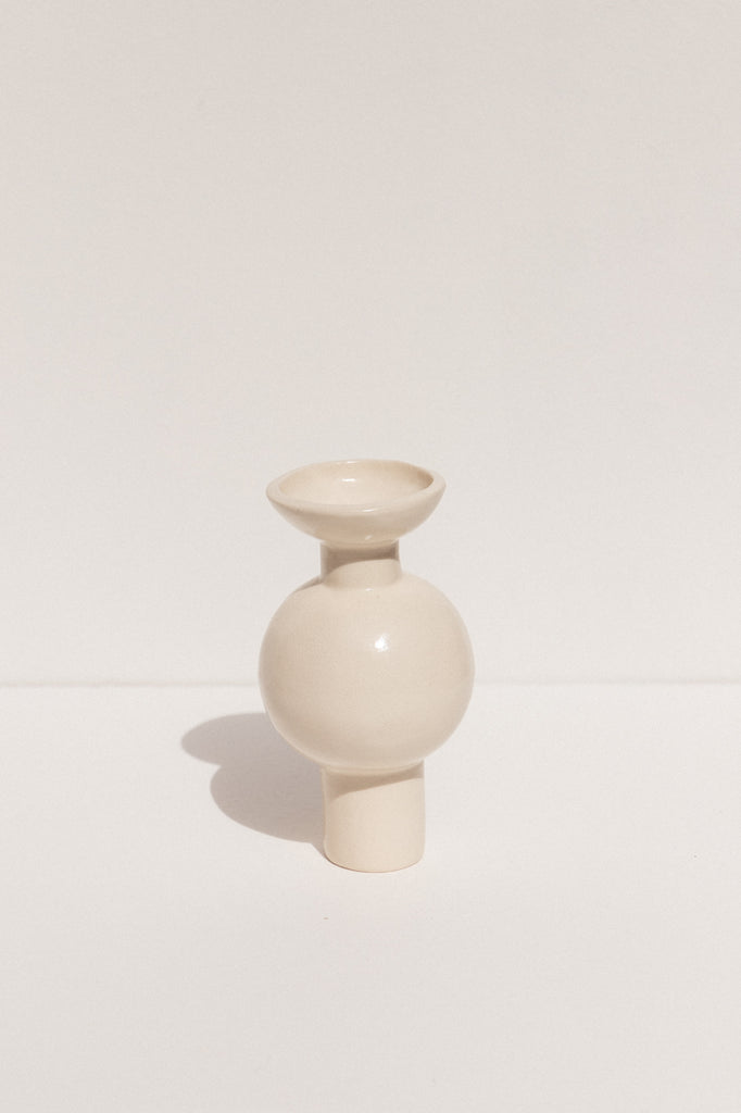 Clae Studio Satin white ceramic Heirloom vase. Makers' Mrkt Exclusive Makers Market Melbourne