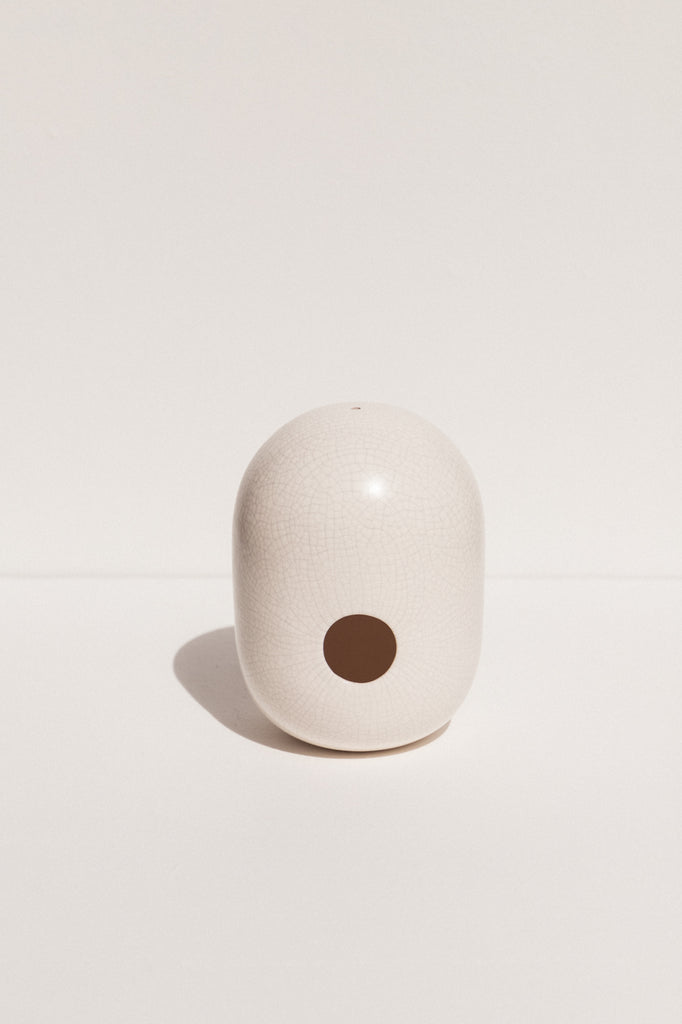 Gidon Bing white crackle ceramic bird house on Makers' mrkt makers market Melbourne