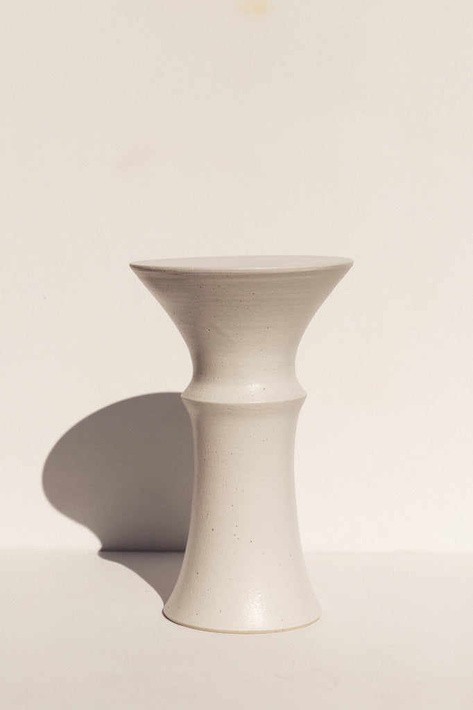 Ceramic Plinth - White Speckle