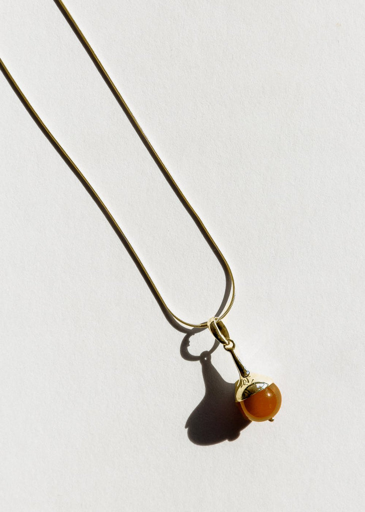 Jasmin Sparrow Lulu carnelian necklace in gold on Maker's Mrkt Melbourne Maker's Market