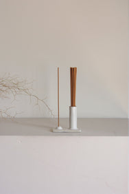 Kura Studio Hold and Release cream ceramic incense holder. Makers Market, Makers Market Melbourne.