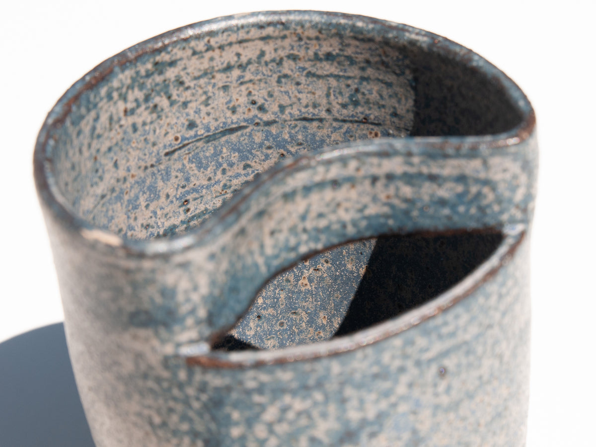 Nami hand-thrown ceramic vase in dark green by Asobimasu Clay Melbourne. Maker's Mrkt Makers Market Australia
