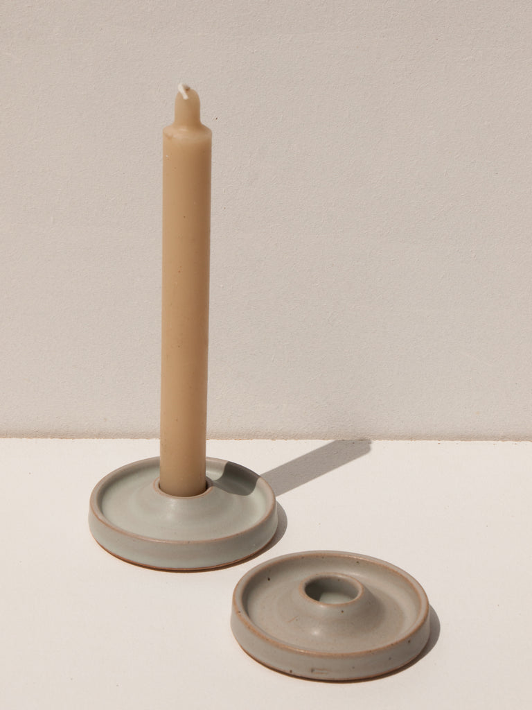 Maker's Mrkt makers Market Melbourne ceramic handmade candle holder from New Zealand by ceramicist Deborah Sweeney
