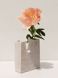 Maker's Mrkt Makers Market Melbourne Clae Studio Valley Vessel ceramic vase in white glaze. handmade