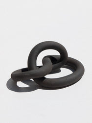 Asobimasu Clay ceramic handmade sculpture in matte black colour on Maker's Mrkt Melbourne Makers market