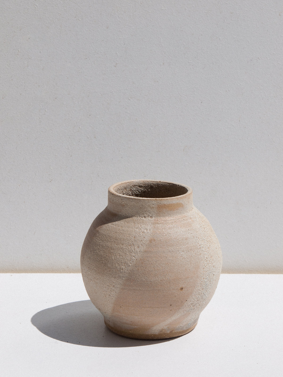 Asobimasu clay ceramic handmade moon vase with textural glaze on Maker's Mrkt makers market Melbourne