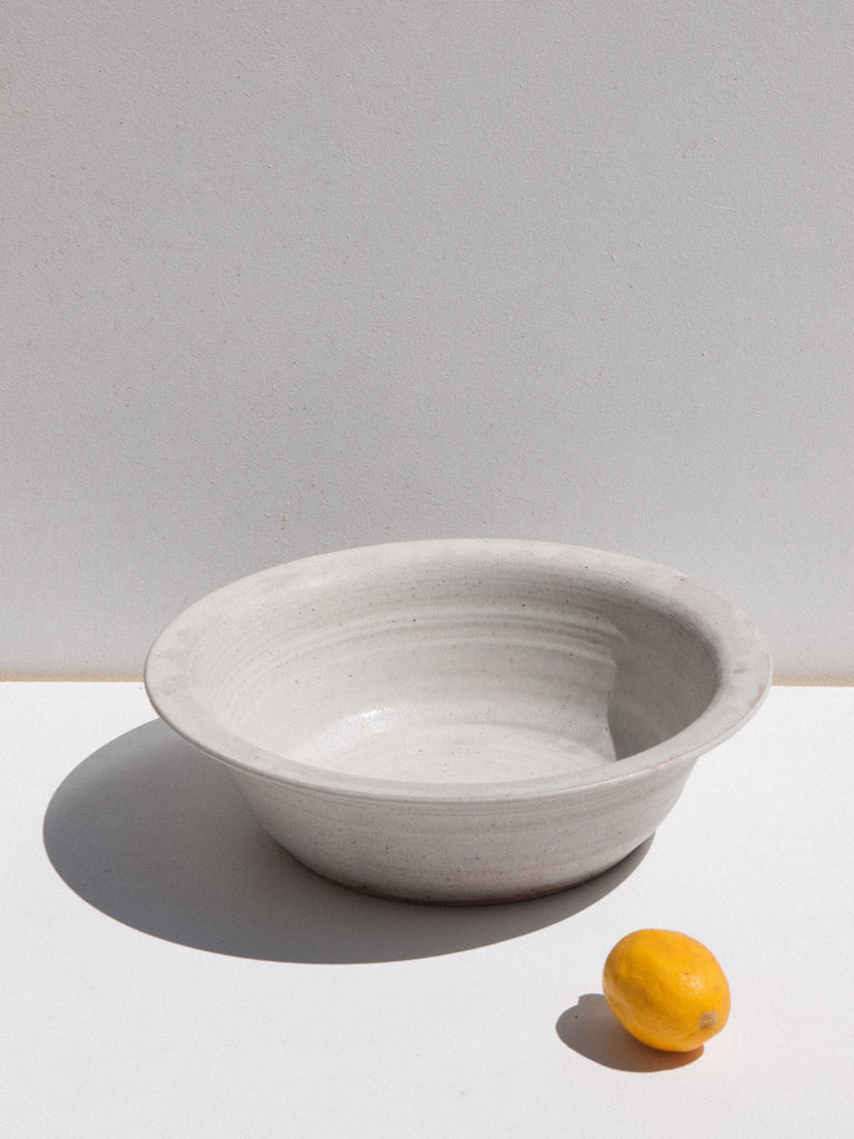 Asobimasu Clay ceramic handmade Sabu bowl in stone colour on Maker's Mrkt Melbourne Makers market