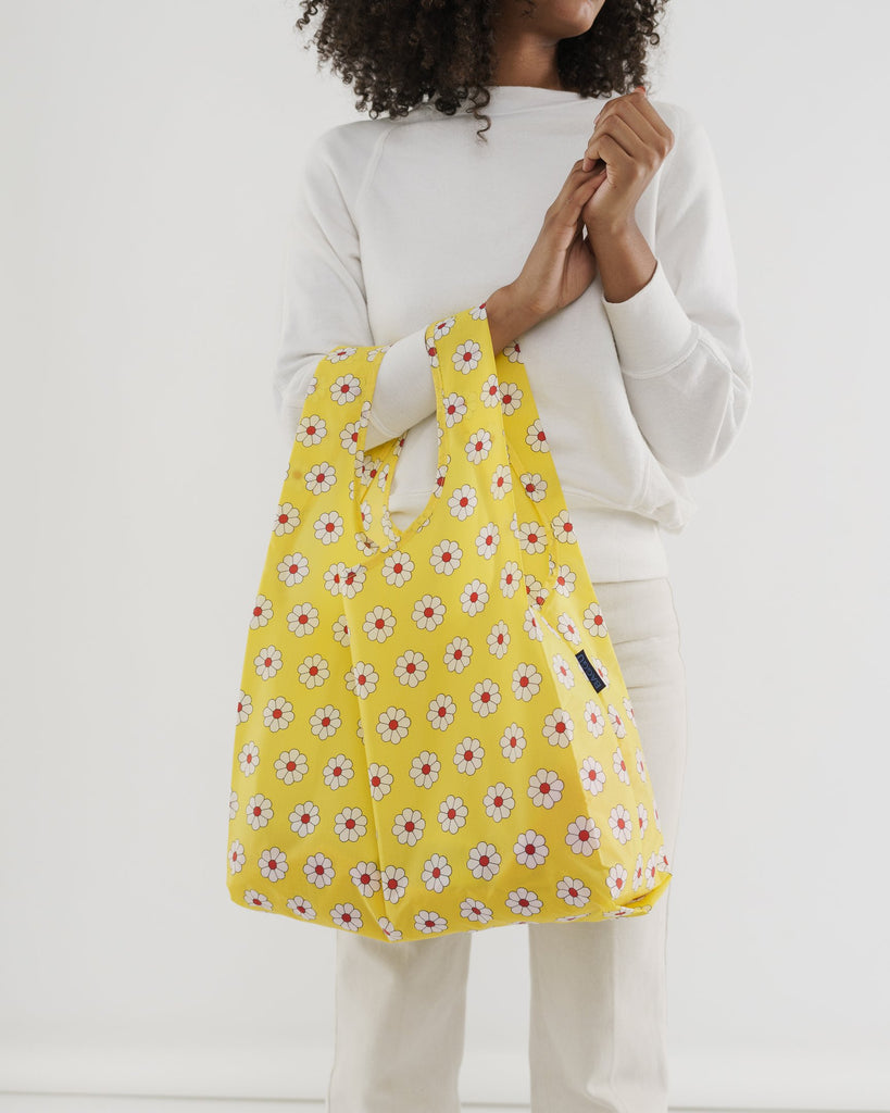 Baggu reusable carry bag nylon yellow daisy on Makers Mrkt Makers Market Melbourne