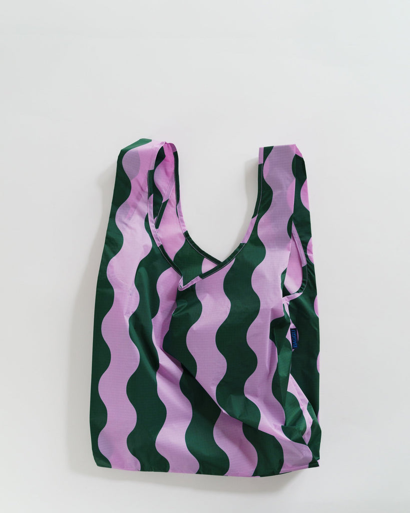 Baggu reusable carry bag nylon wavy stripe on Makers Mrkt Makers Market Melbourne