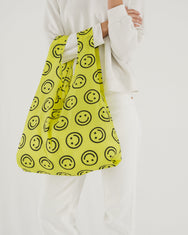 Baggu reusable carry bag nylon Happy face on Makers Mrkt Makers Market Melbourne