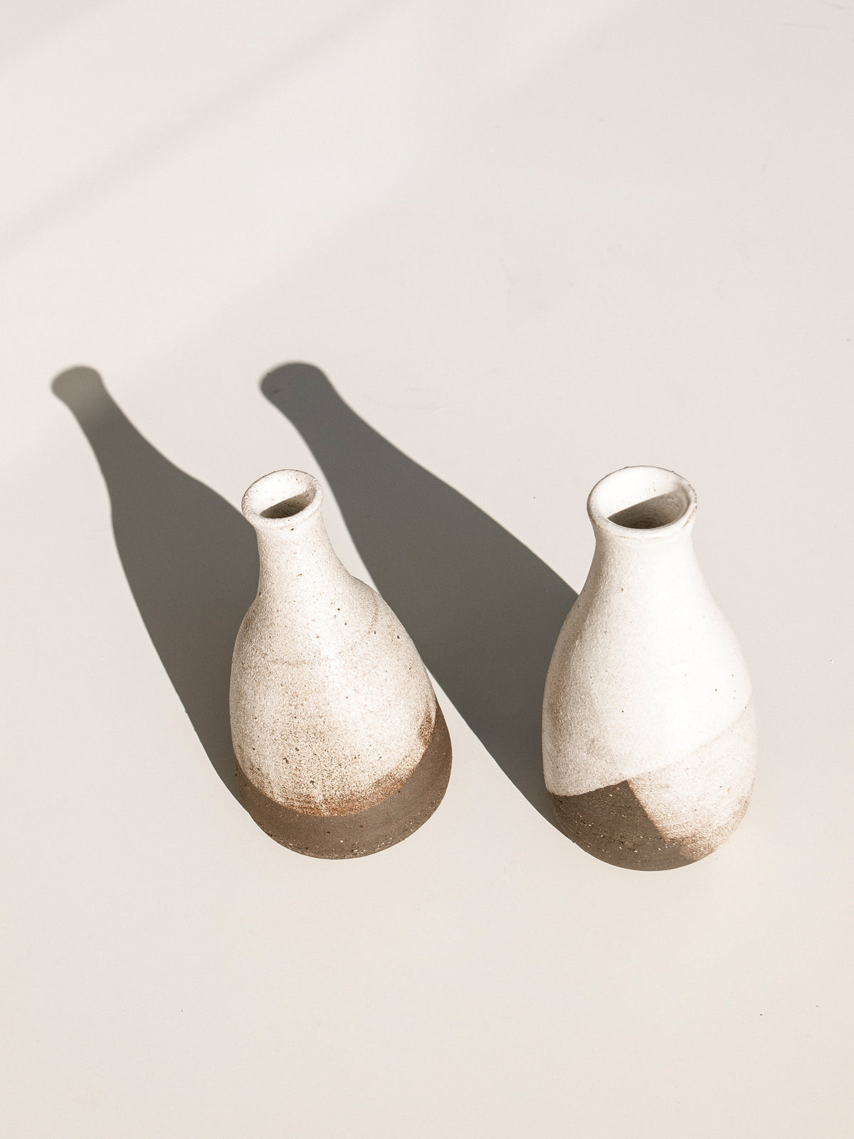 kerryn Levy ceramic bud vase, cream and brown Makers Mrkt Makers Market ethical homewares and interiors