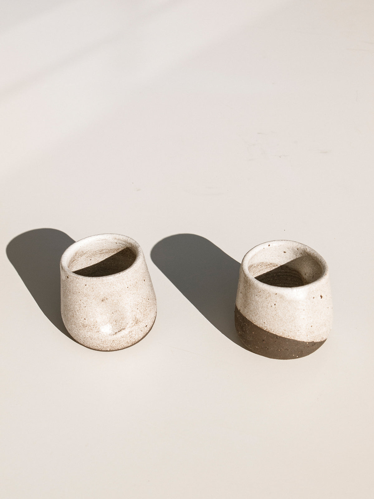 kerryn Levy Espresso cup, cream and brown Makers Mrkt Makers Market ethical homewares and interiors
