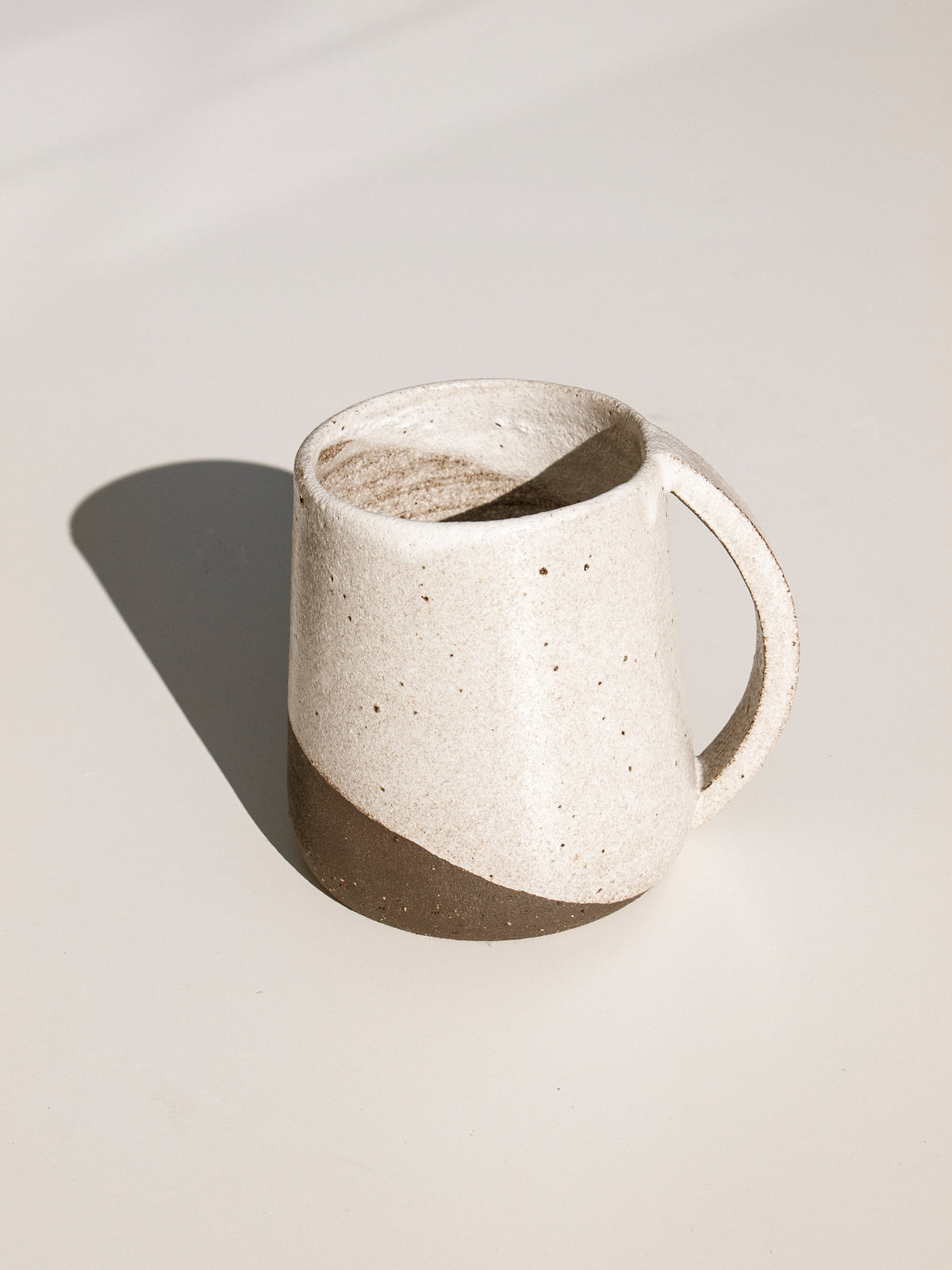 kerryn Levy ceramic mug, cream and brown Makers Mrkt Makers Market ethical homewares and interiors