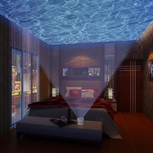 Ocean Waves Projector and Built-in Speaker