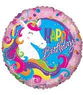 "Unicorn Birthday Classic Round Foil Balloon(18"")"