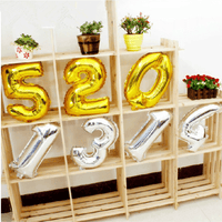 Air Filled Alphabets / Numbers Balloons